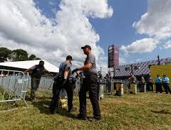 Sécurité assurée avec la barrière de police